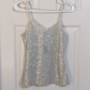 NWT Express sequin camisole blouse XS